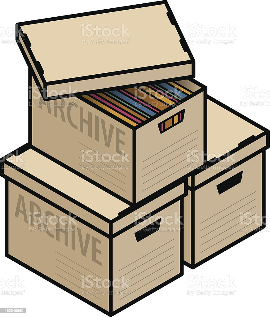 Archive Boxes royalty-free stock vector art