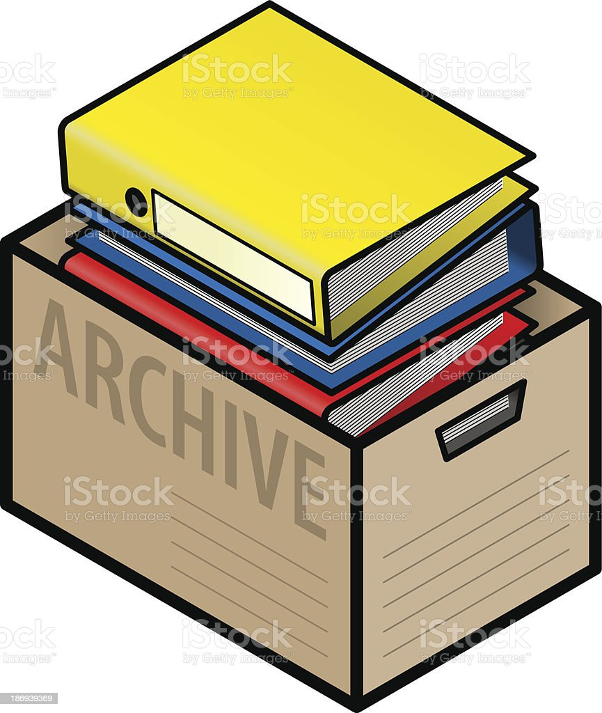 Archiving files royalty-free stock vector art