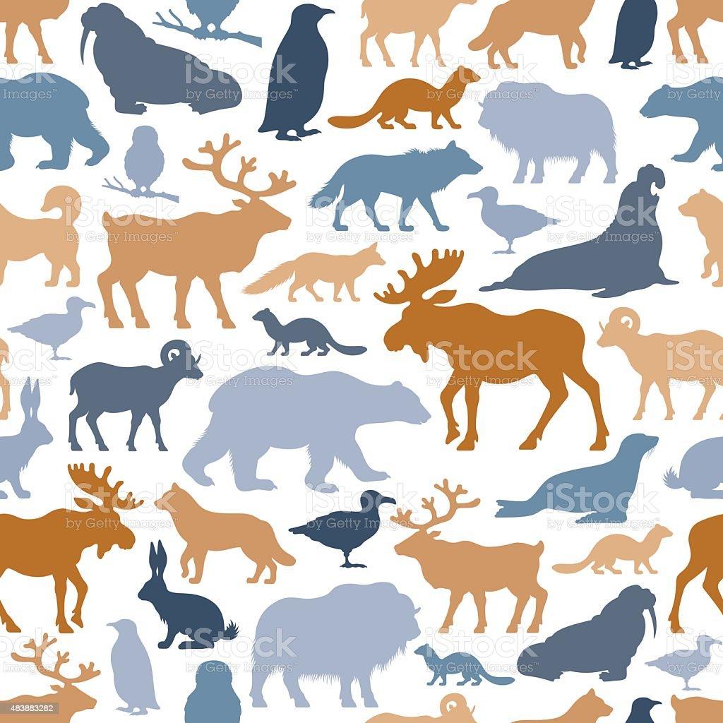 Arctic Animals Pattern vector art illustration