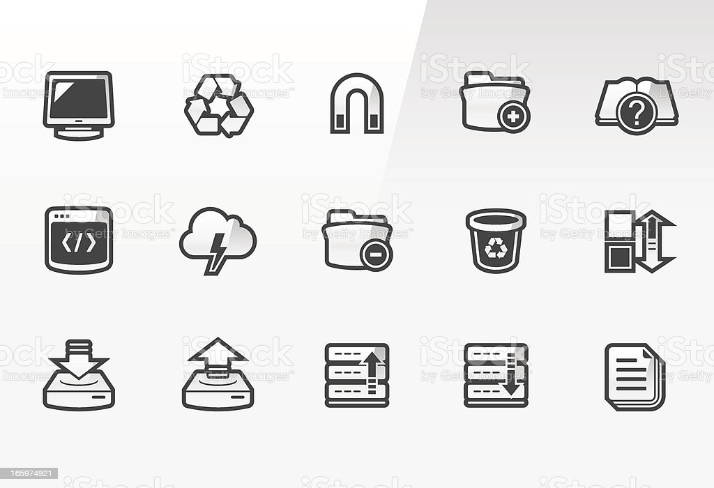 Arctic – Implementator icons royalty-free stock vector art