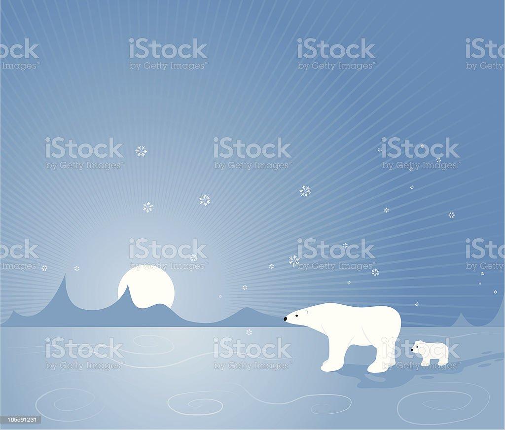 Arctic Journey royalty-free stock vector art