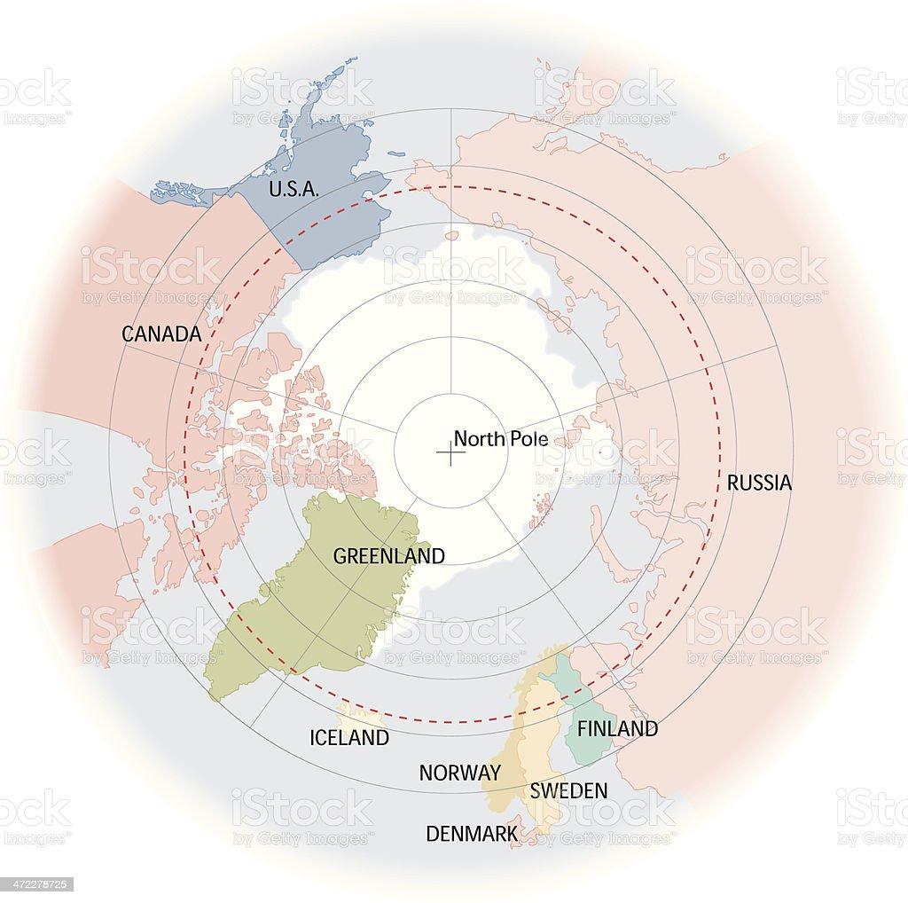 Arctic Map vector art illustration