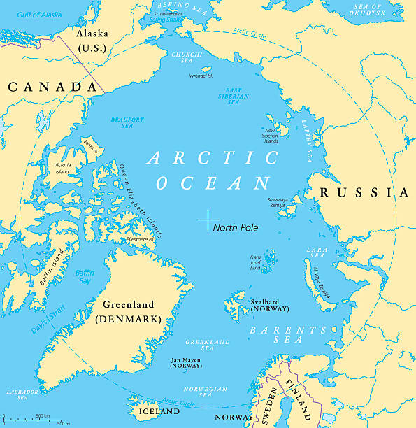 Arctic Ocean Clip Art Vector Images Illustrations IStock - Arctic ocean on us map