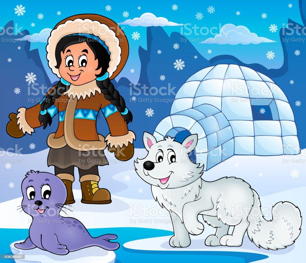 Arctic theme image 2 vector art illustration