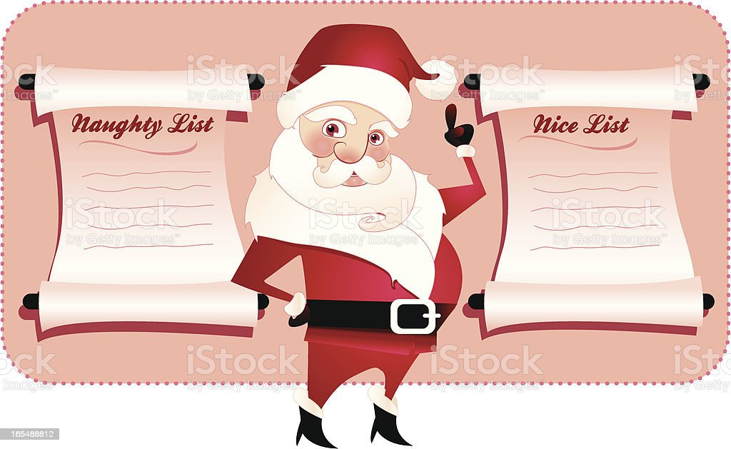 Are you Naughty or Nice? royalty-free stock vector art