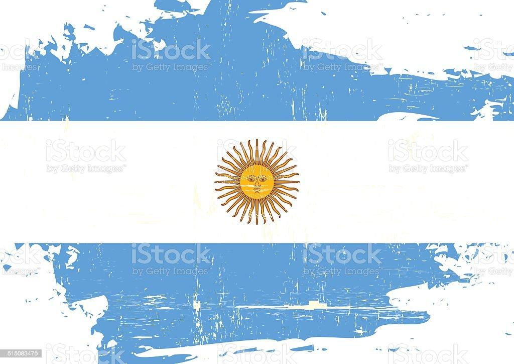 Argentin scratched Flag vector art illustration