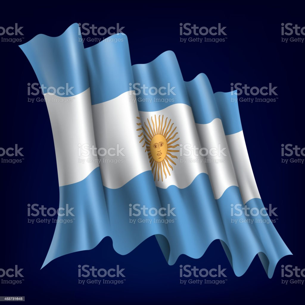 Argentina, Argentinian Flag royalty-free stock vector art