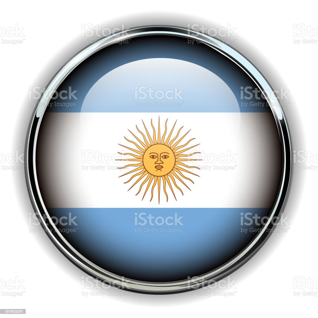 Argentina button royalty-free stock vector art