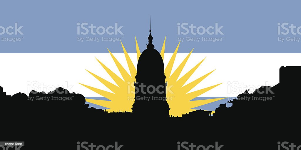 Argentina Congress Silhouette royalty-free stock vector art