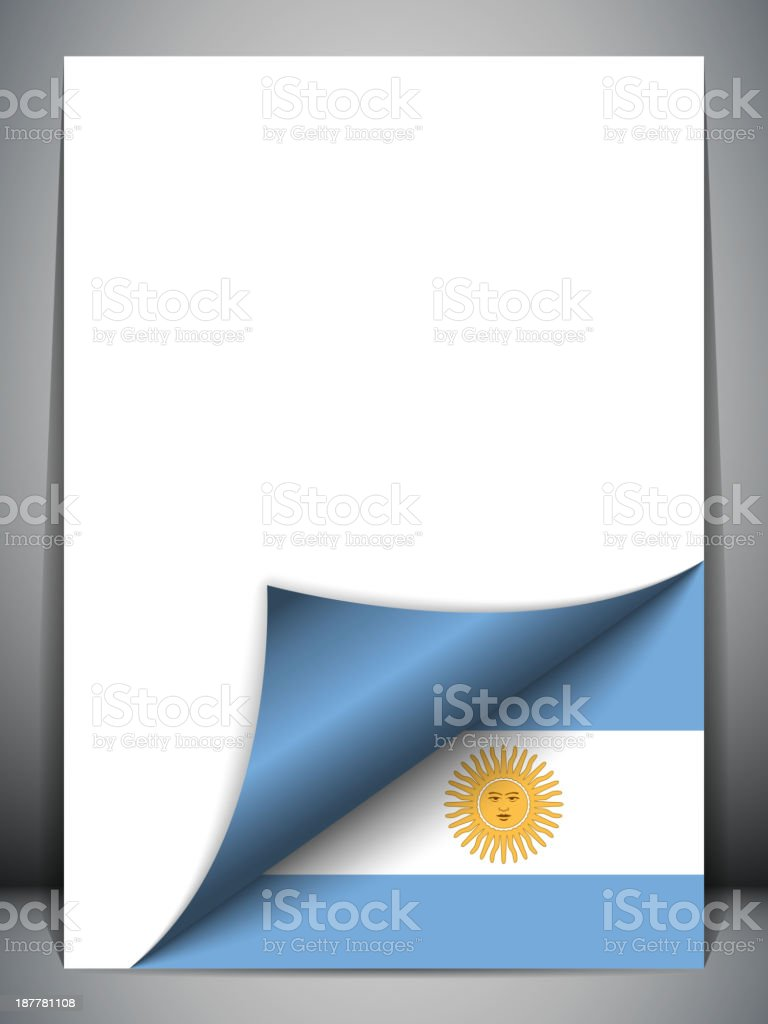 Argentina Country Flag Turning Page royalty-free stock vector art