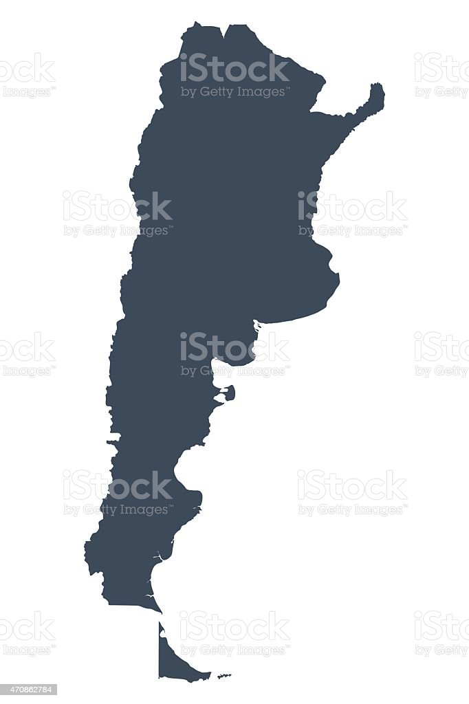 Argentina country map vector art illustration