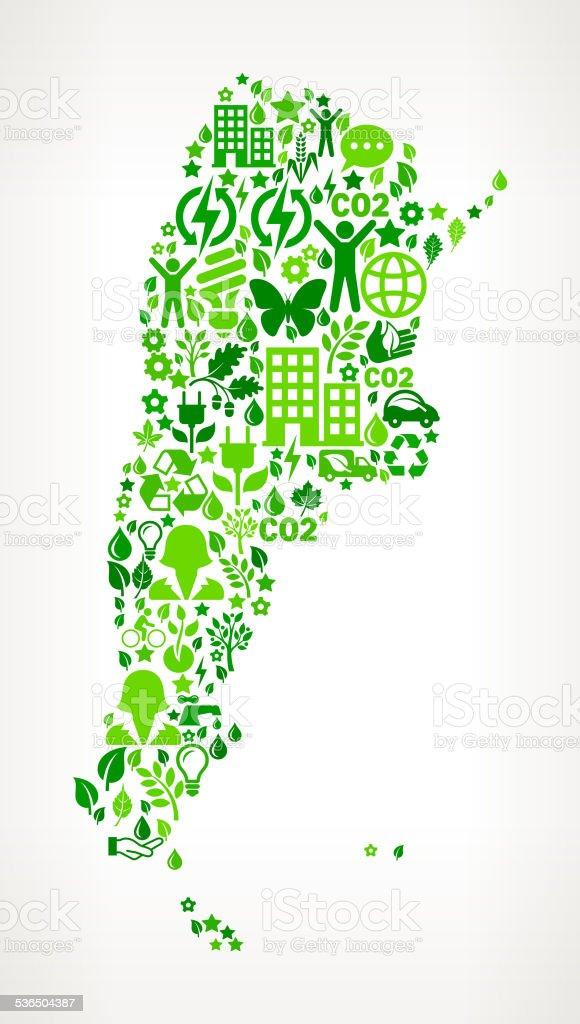 Argentina Environmental Conservation and Nature royalty free vector art Pattern vector art illustration