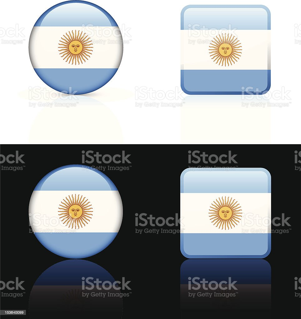 Argentina Flag Button Set royalty-free stock vector art