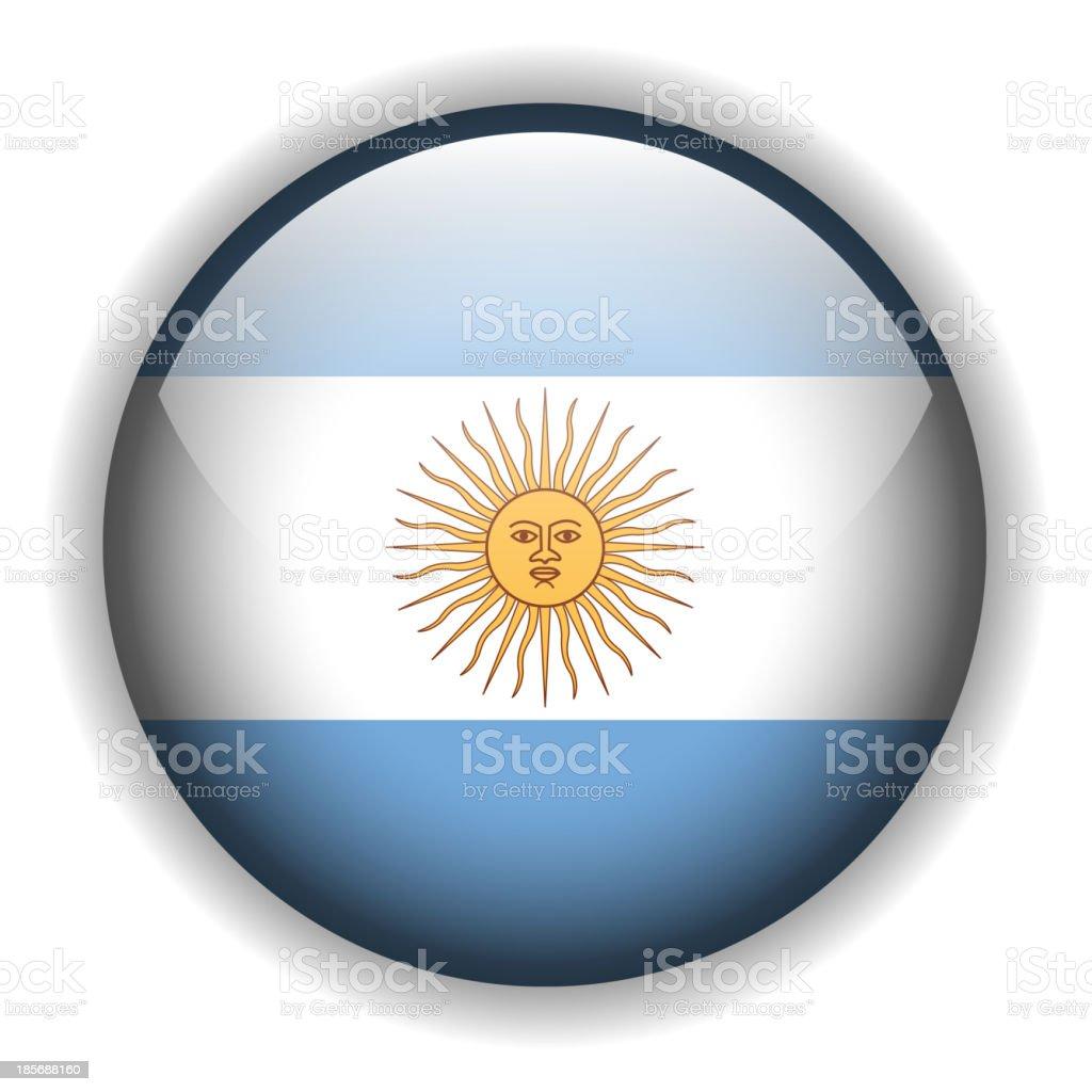 Argentina flag button, vector royalty-free stock vector art