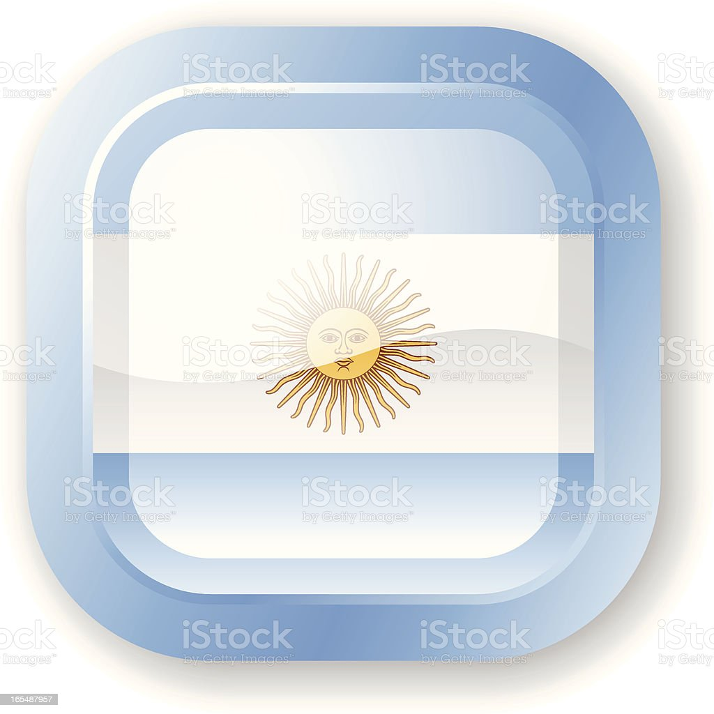Argentina Flag Icon royalty-free stock vector art