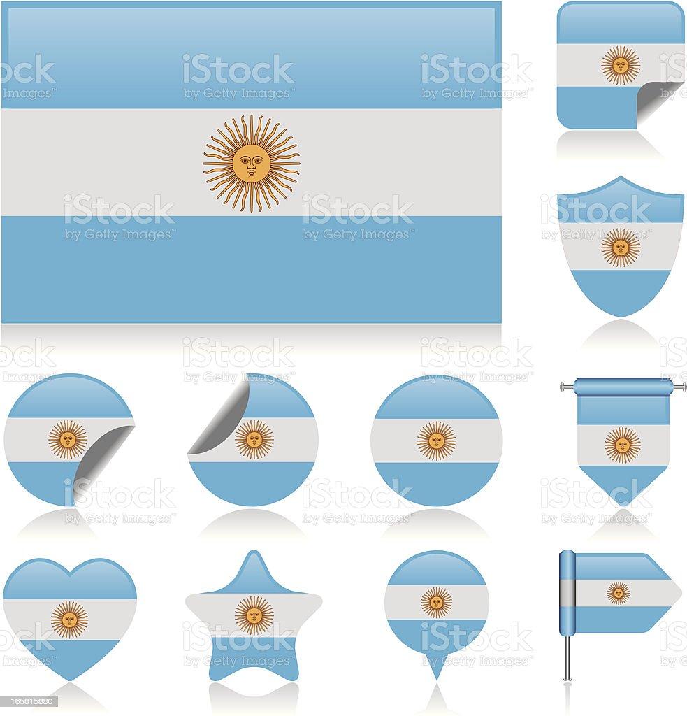 Argentina flag set royalty-free stock vector art