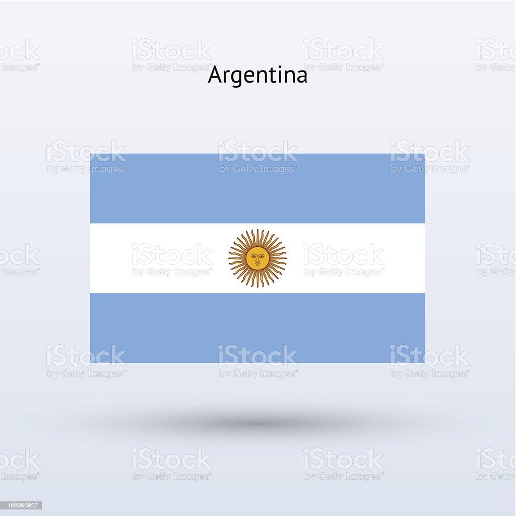 Argentina Flag royalty-free stock vector art