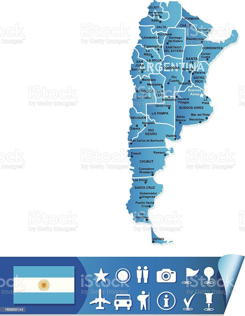 Argentina map royalty-free stock vector art