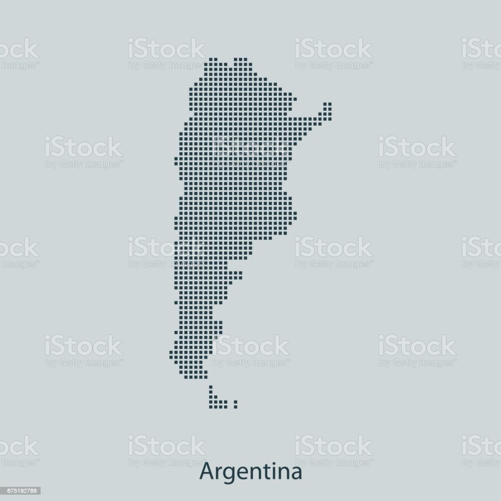 Argentina Map Stock Vector Art IStock - Argentina map vector free