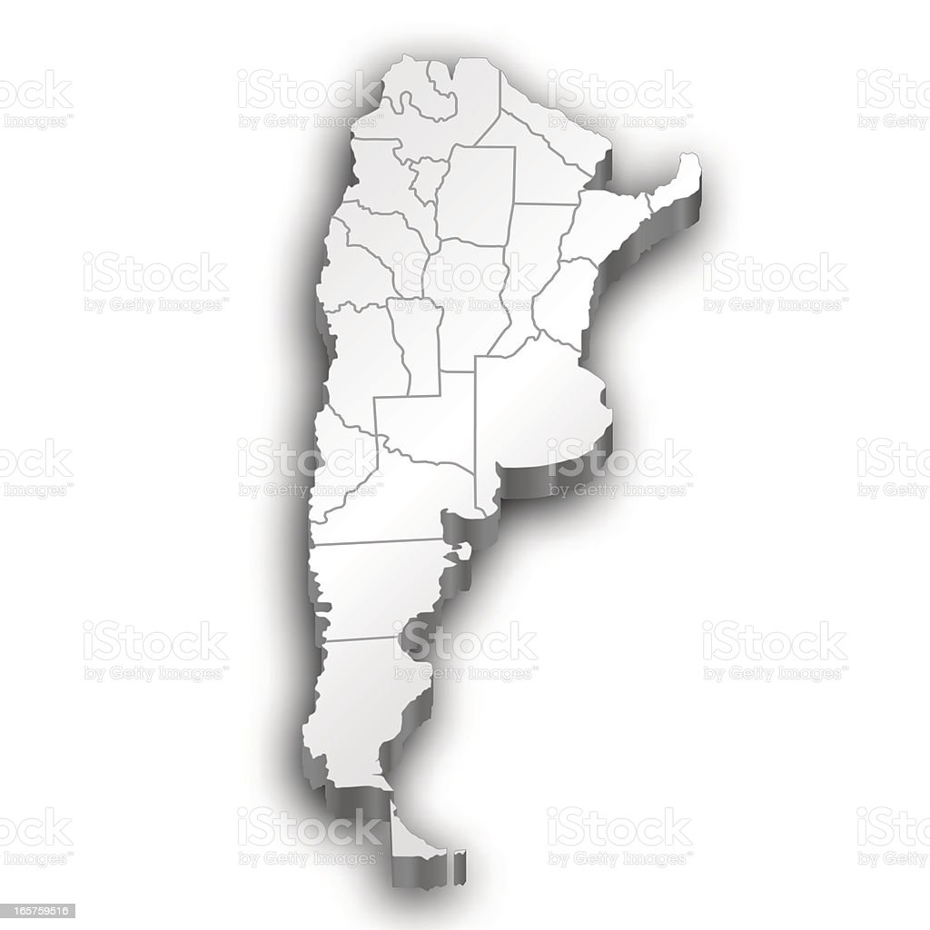 Argentina map white royalty-free stock vector art