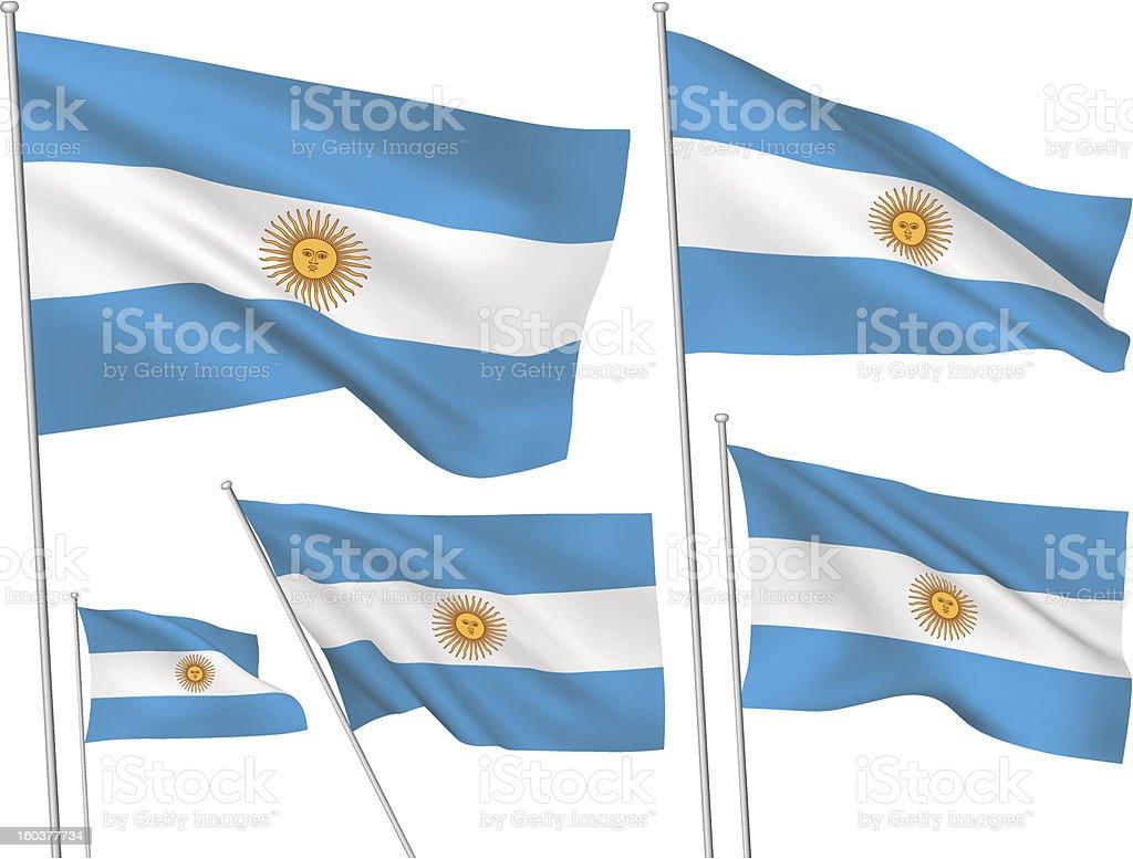 Argentina vector flags vector art illustration