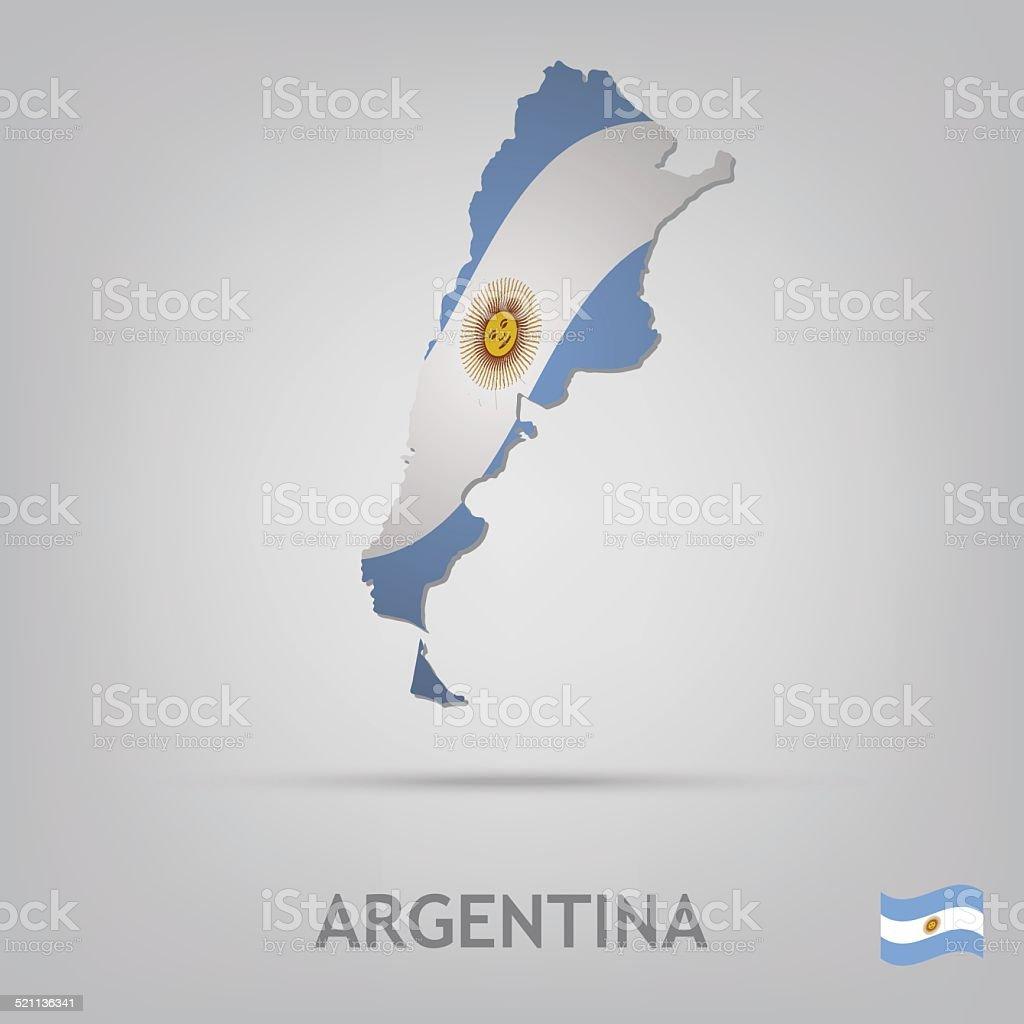 argentina vector art illustration