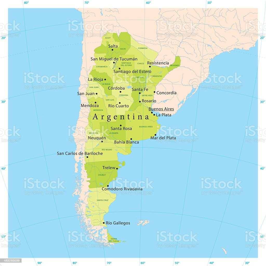 Argentina Vector Map vector art illustration