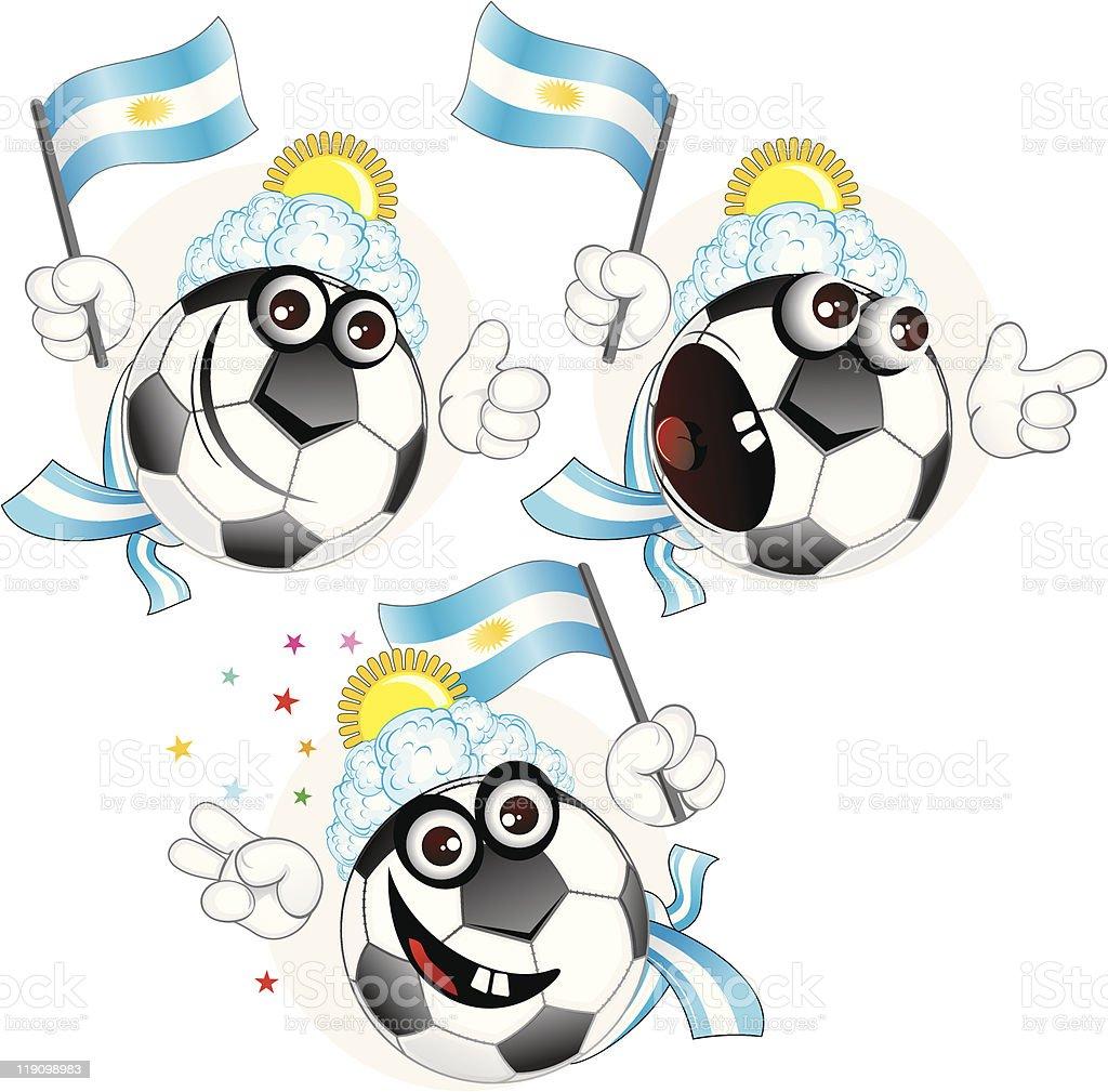 Argentinian cartoon ball royalty-free stock vector art