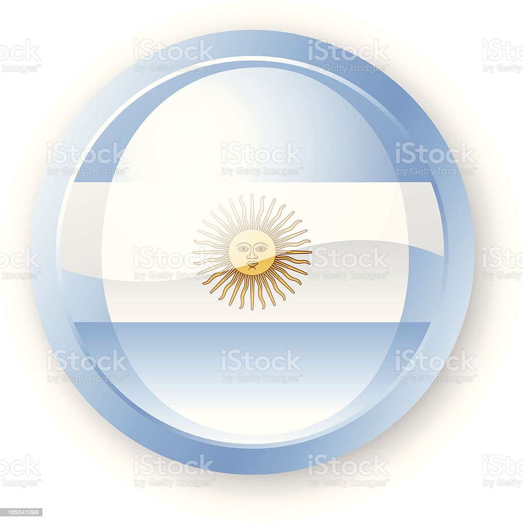 Argentinian Flag Icon royalty-free stock vector art