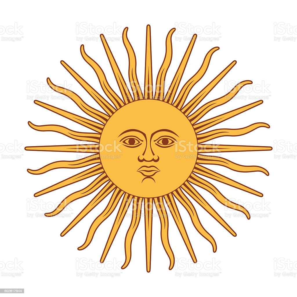 Argentna sun vector art illustration