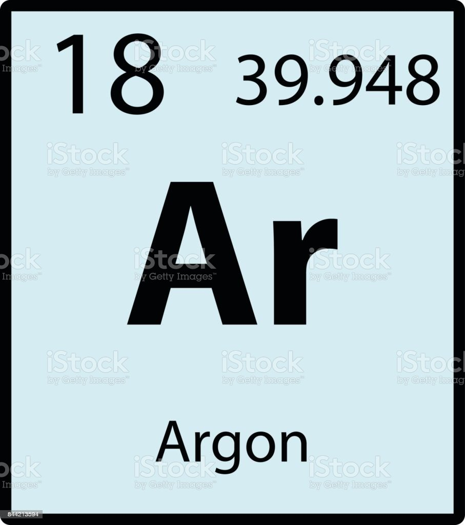 Argon periodic table element color icon on white background vector vector art illustration