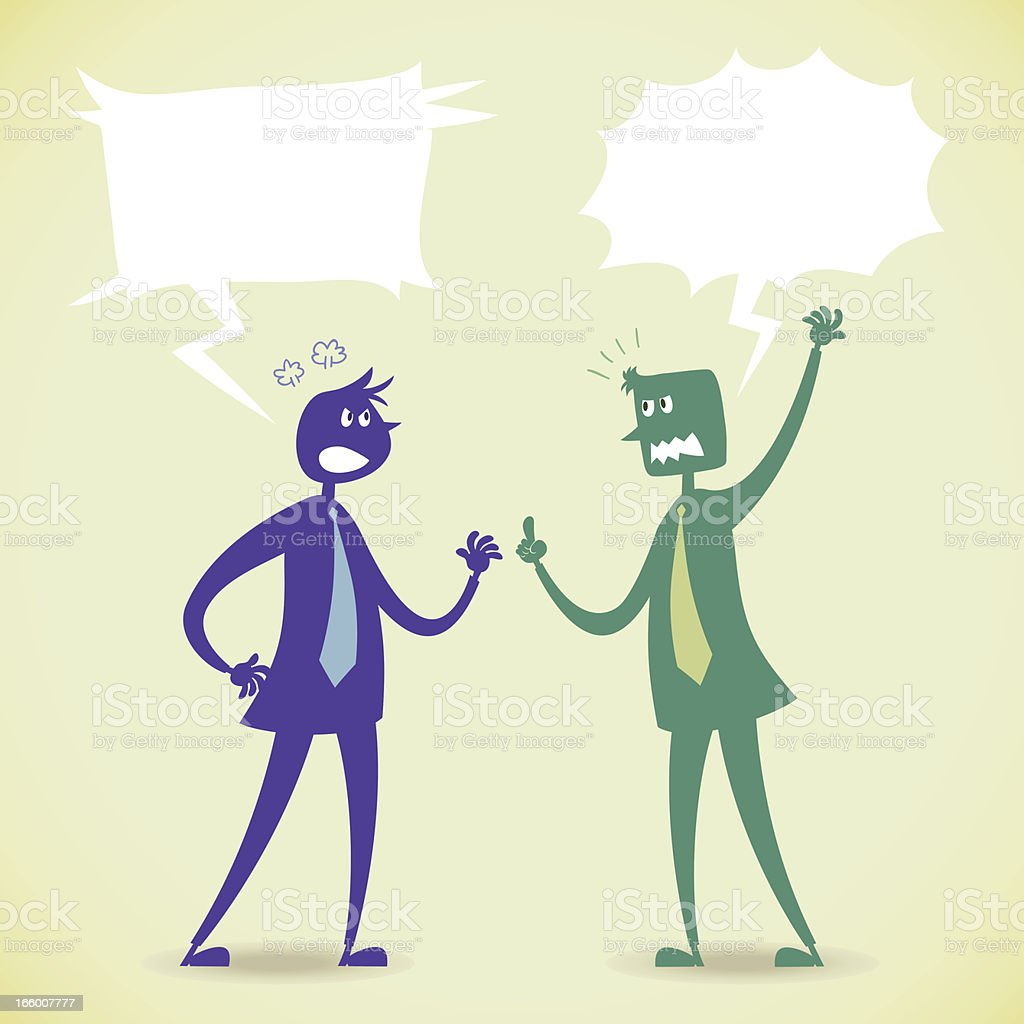 Argument with two people royalty-free stock vector art