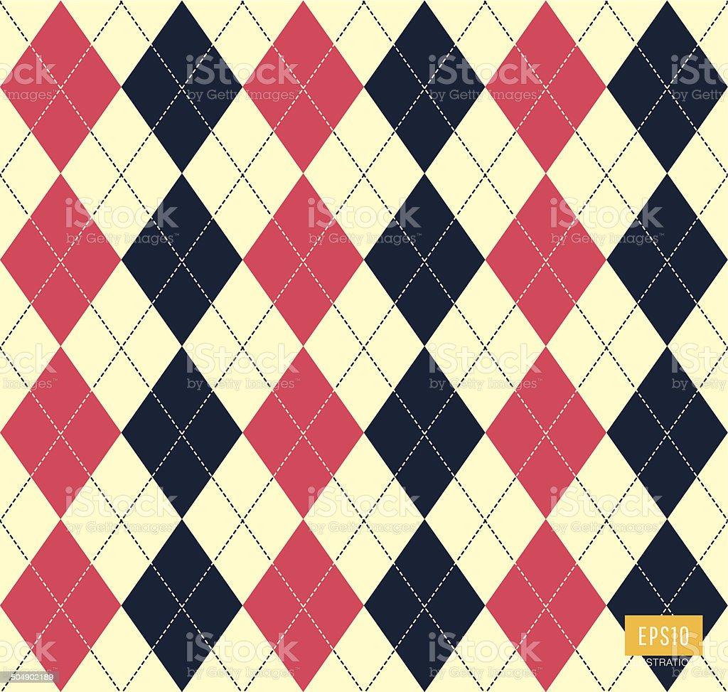 Argyle pattern vector art illustration