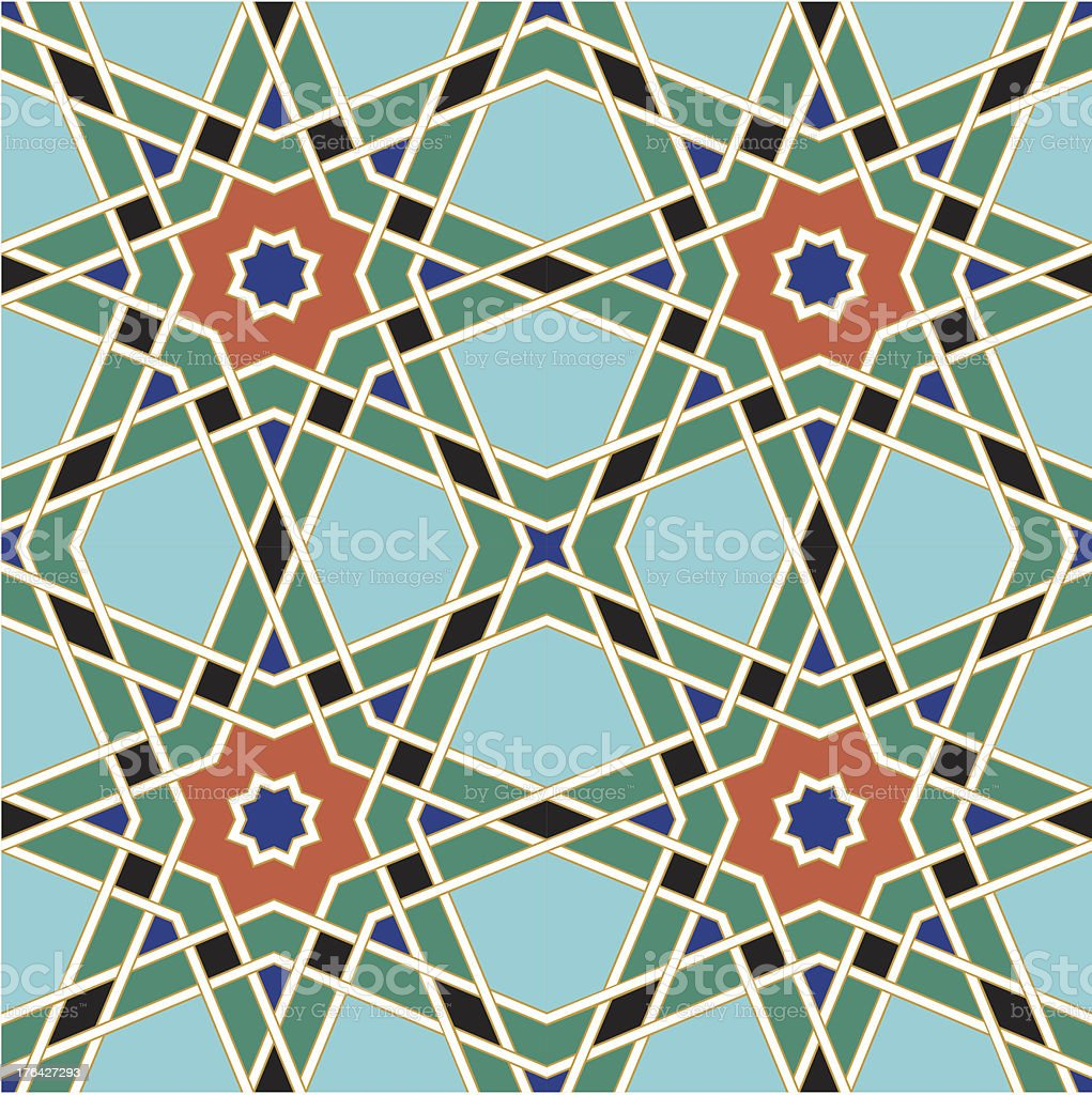 Arihah Seamless Pattern Four royalty-free stock vector art