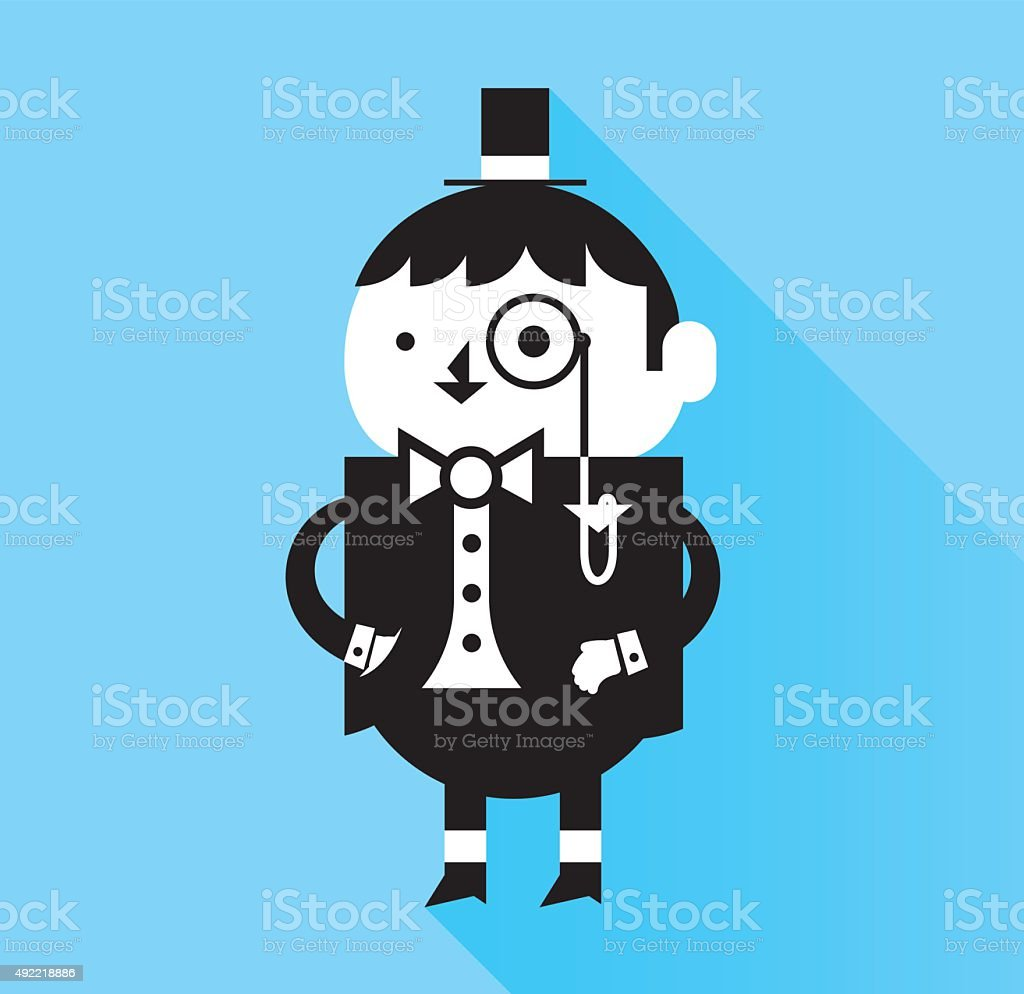 Aristocrat vector art illustration