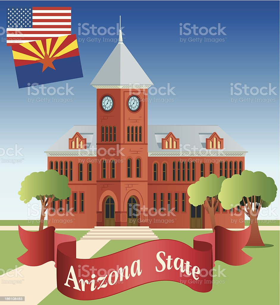 Arizona and Flagstaff royalty-free stock vector art