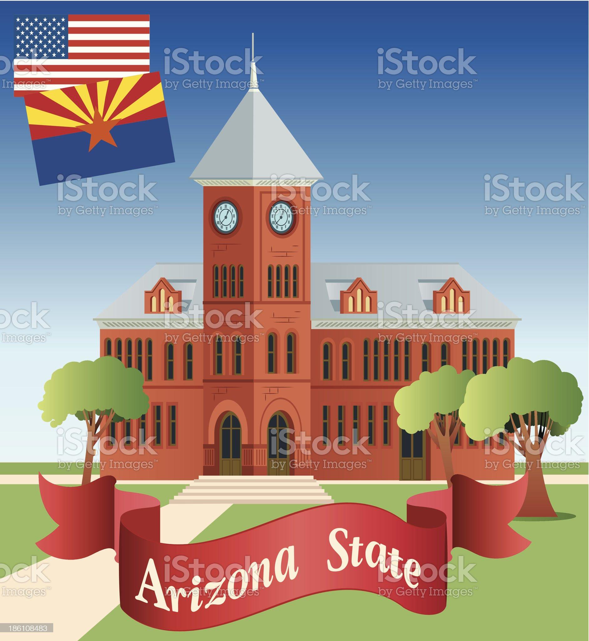 Arizona and Flagstaff royalty-free stock vector art