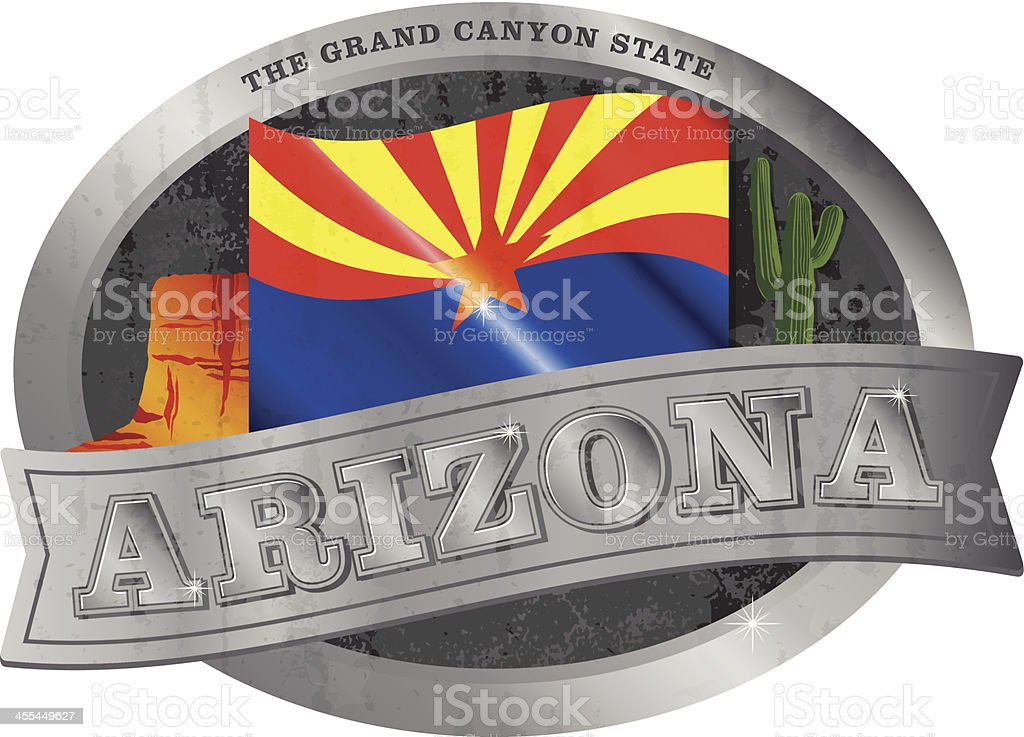 Arizona Belt Buckle vector art illustration