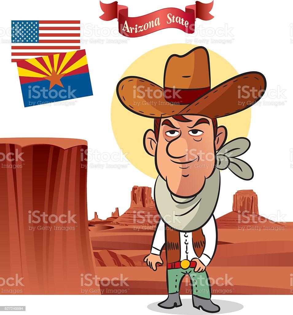 Arizona Cowboys vector art illustration
