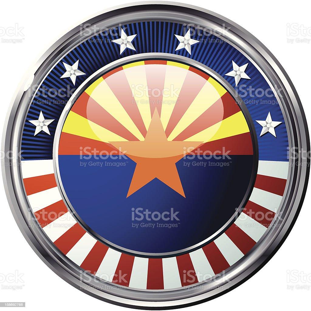 Arizona flag royalty-free stock vector art