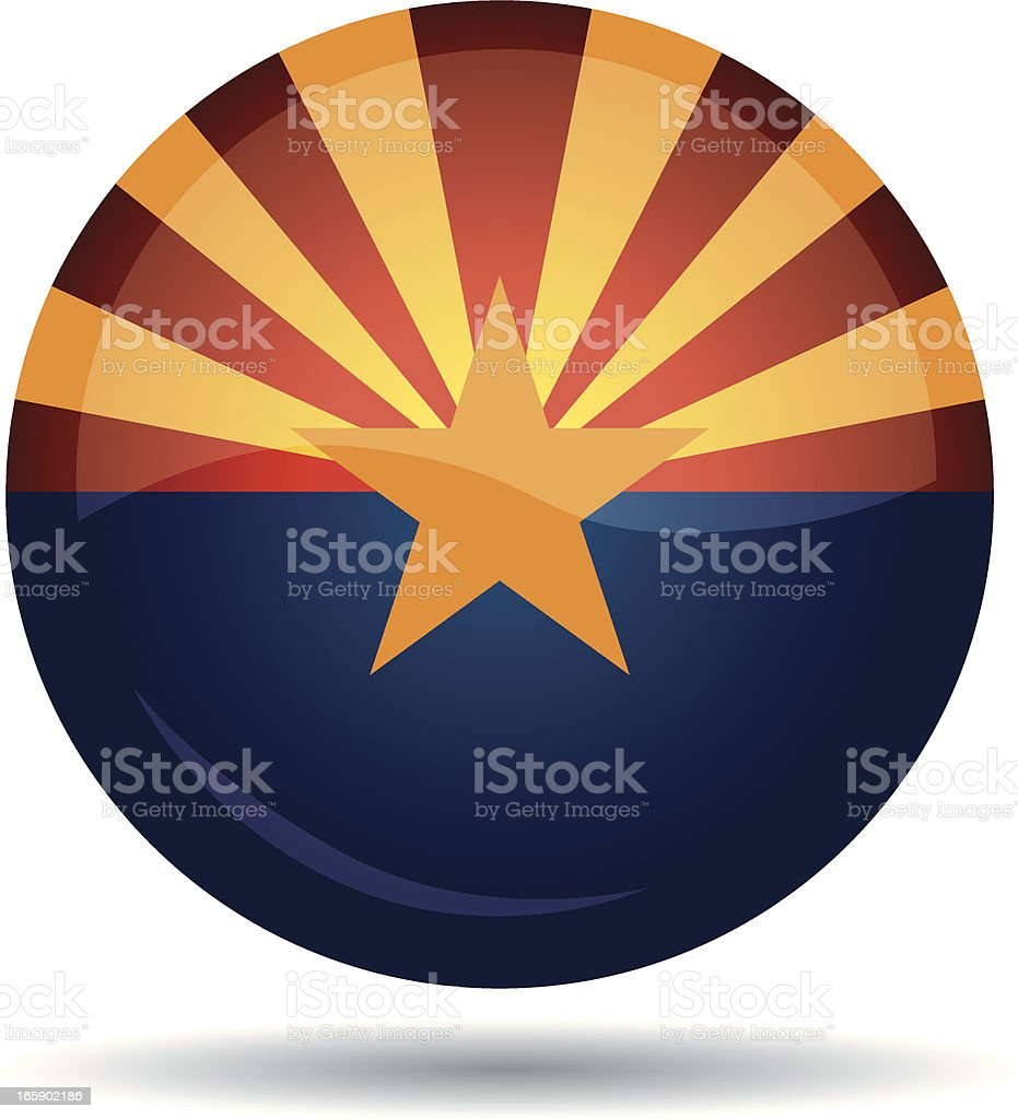 Arizona flag royalty-free stock vector art