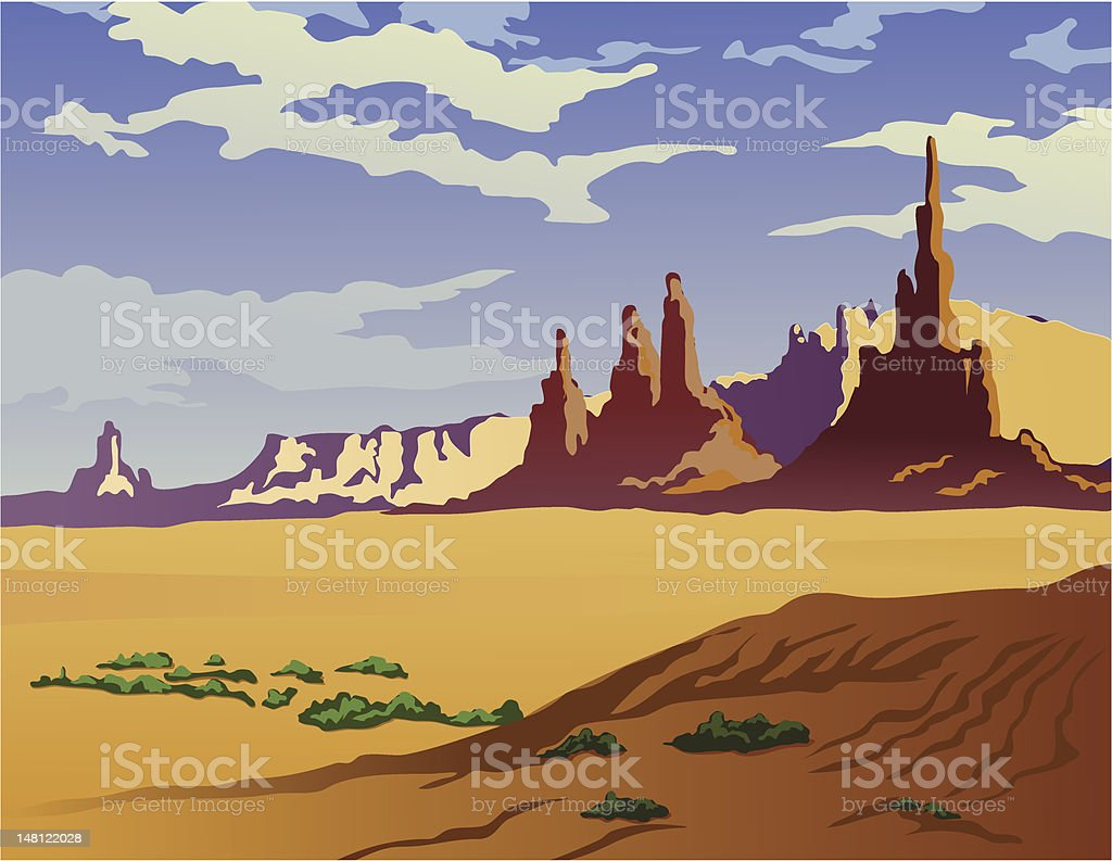 Arizona Landscape royalty-free stock vector art