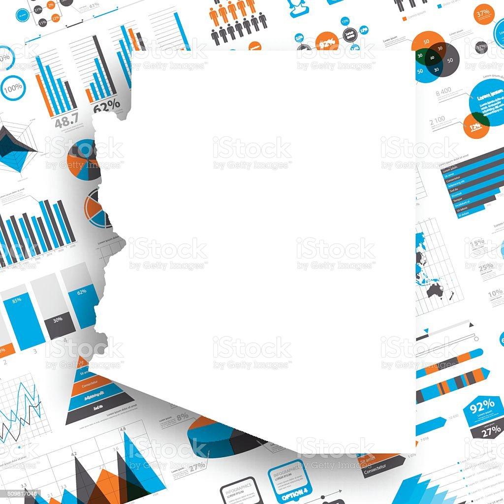 Arizona Map on Infographic Background vector art illustration