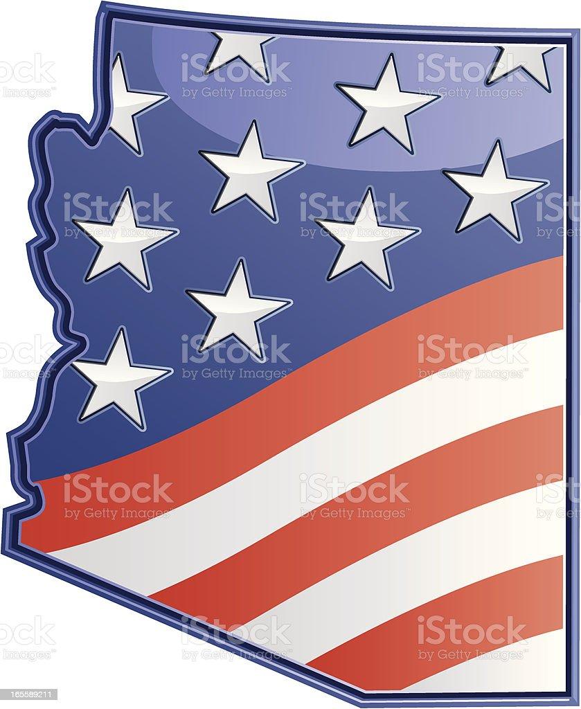 Arizona Patriotic royalty-free stock vector art