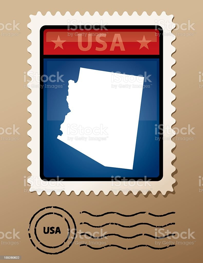 USA Arizona postage stamp royalty-free stock vector art