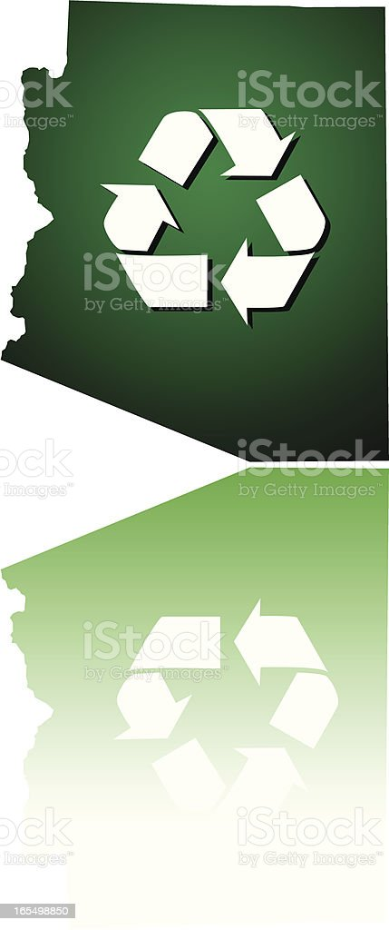 Arizona Recycles royalty-free stock vector art