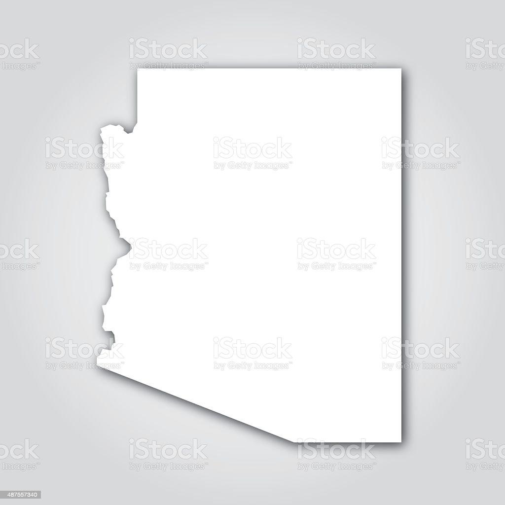 Arizona Silhouette White vector art illustration