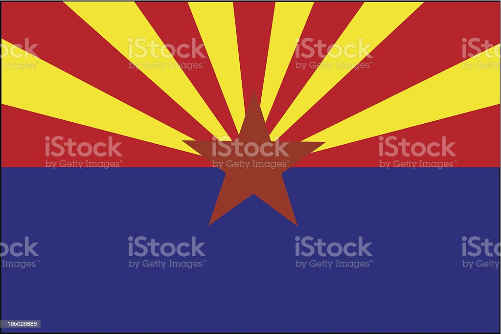 Arizona State Flag  ( VECTOR ) royalty-free stock vector art