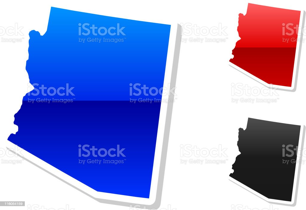 Arizona State in 3 colors royalty-free stock vector art