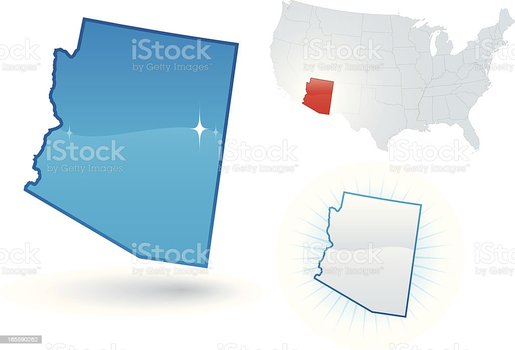 Arizona State royalty-free stock vector art